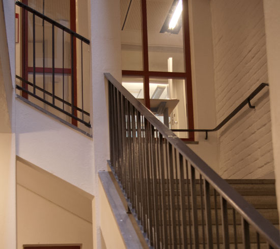 Staircase outside the department